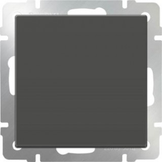 Выключатель одноклавишный WL07-SW-1G серо-коричневый