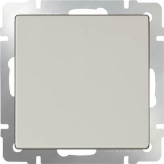 Выключатель одноклавишный проходной WL03-SW-1G-2W слоновая кость