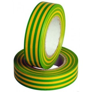 Изолента ПВХ 0,18х19ммХ20м, желто-зеленая