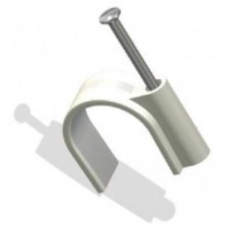 Скоба пластиковая для крепления кабеля 10мм круглая
