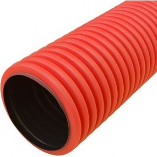 Труба гофрированная ПНД гибкая двустенная d110 мм красная КOPOFLEX