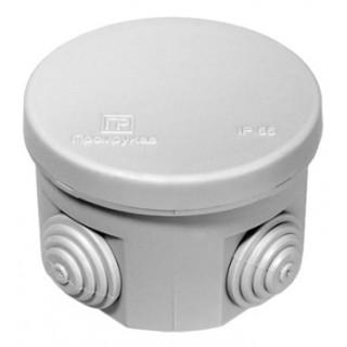 Коробка распределительная наружной установки 70х50 мм, IP54 круглая