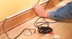 Как спрятать провода в квартире?